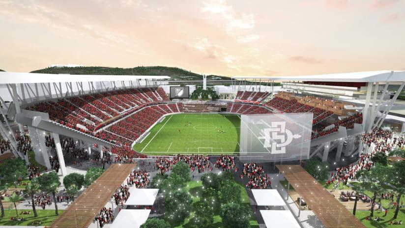 San Diego State Stadium rending