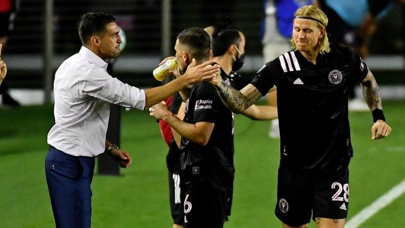 Brek Shea - Diego Alonso - Inter Miami - celebrate a goal