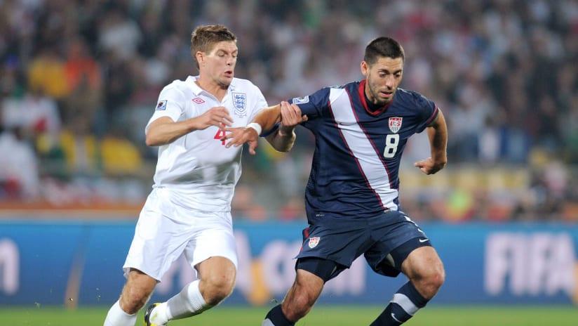 Clint Dempsey, Steven Gerrard - US national team vs. England - 2010 World Cup