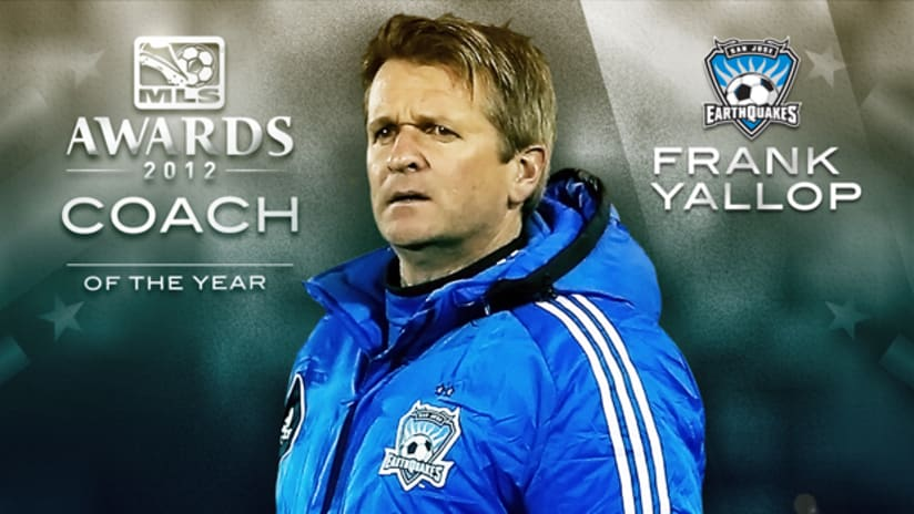 Frank Yallop, 2012 MLS Coach of the Year