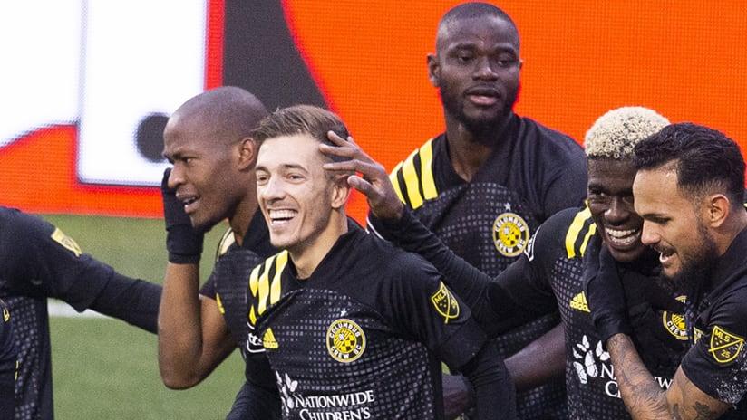 Columbus Crew SC - team celebration - MLS Cup Playoffs