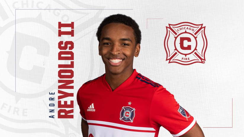 Andre Reynolds II - Chicago Fire - signing graphic