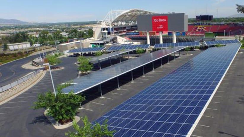 Solar Panels - Real Salt Lake - Rio Tinto Stadium