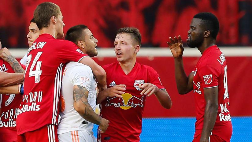 Hector Villalba - Atlanta United - Kemar Lawrence - New York Red Bulls - confrontation after game