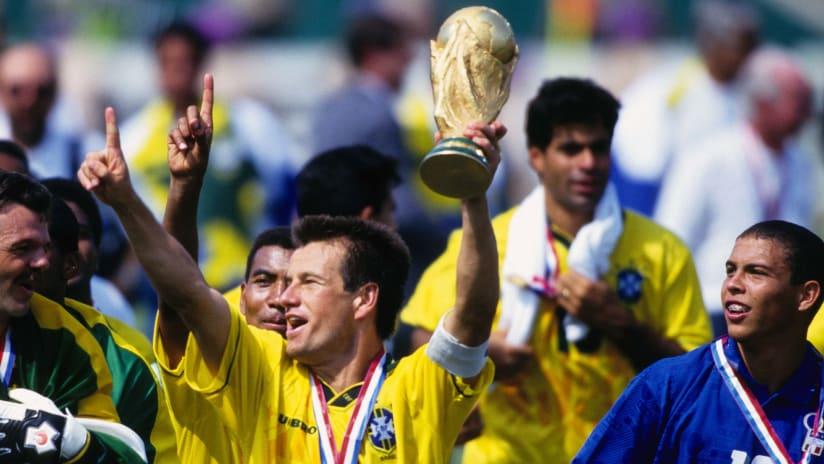 Dunga - Brazil - raising World Cup - 1994