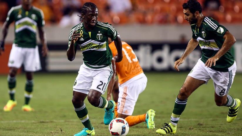 Diego Chara, Diego Valeri - Portland Timbers - vs. Houston