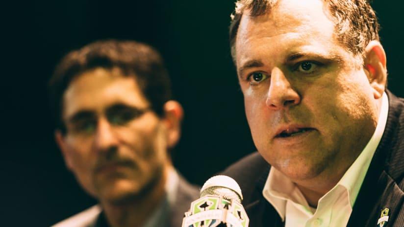 Garth Lagerway - Seattle Sounders - Intense at Presser