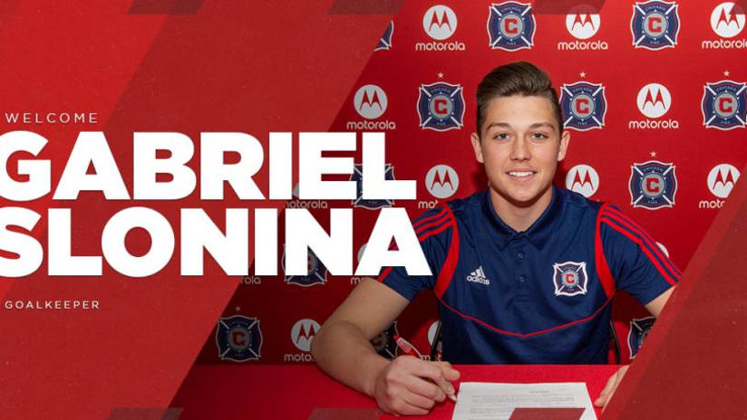 Gabriel Slonina - Chicago Fire - signing graphic