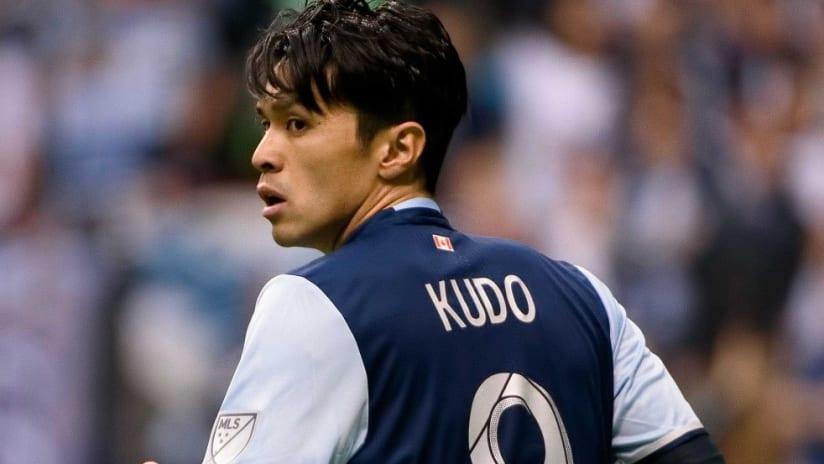 Masato Kudo in action for the Vancouver Whitecaps