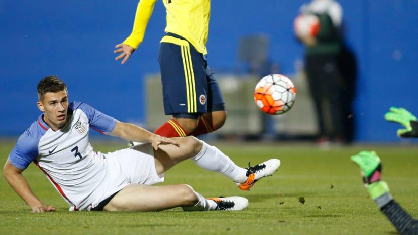 Matt Miazga - US Under-23 national team - Floored by Colombia