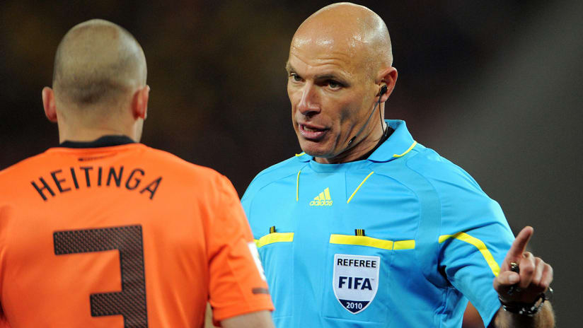 Howard Webb - referee - during the 2010 World Cup final