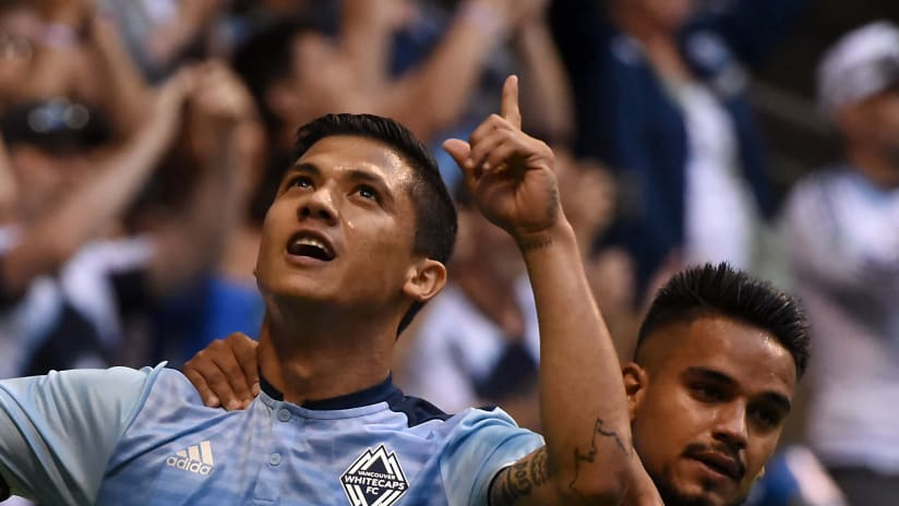 Vancouver Whitecaps celebrate - Fredy Montero