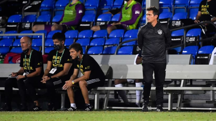 Guillermo Barros Schelotto looks on at MLS is Back Tournament