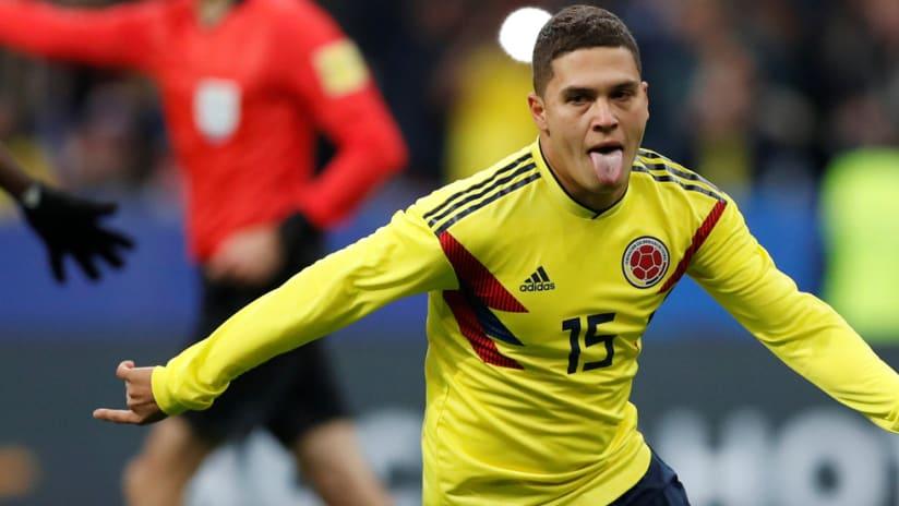 Juan Fernando Quintero - Colombia - celebrates a goal