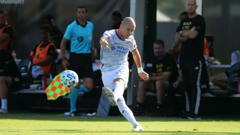 Andrew Gutman - kicking ball - MLS is Back Tournament