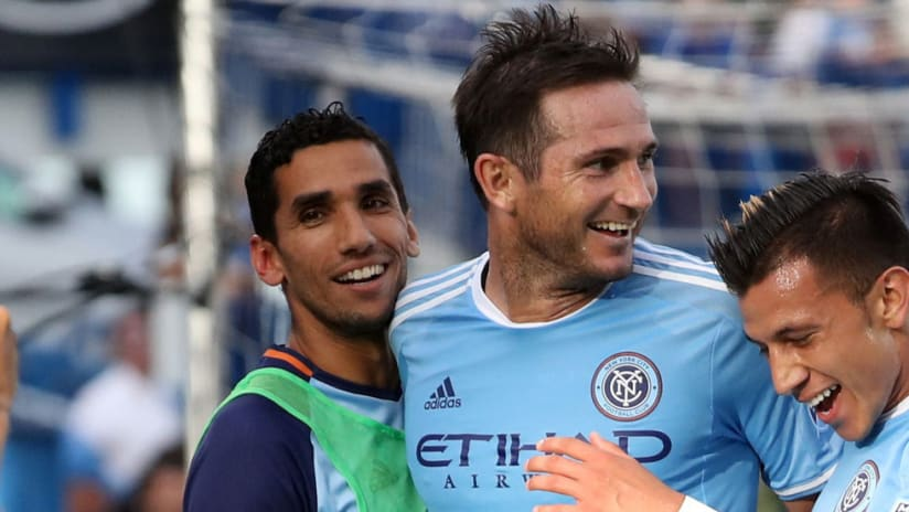 Frank Lampard - New York City FC - celebrates goal vs. Impact