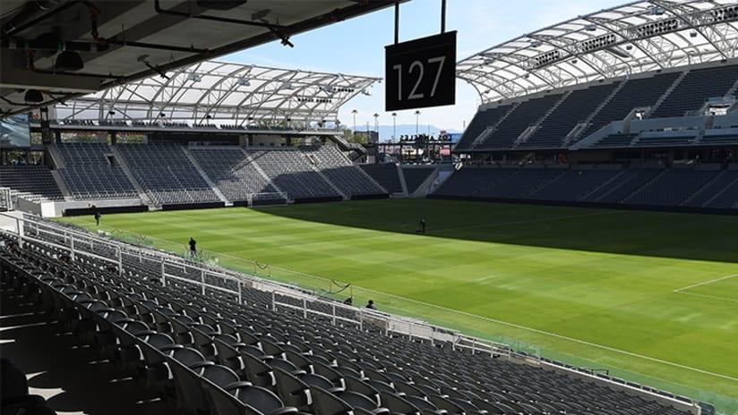 Banc of California Stadium at ribbon-cutting - April 18, 2018
