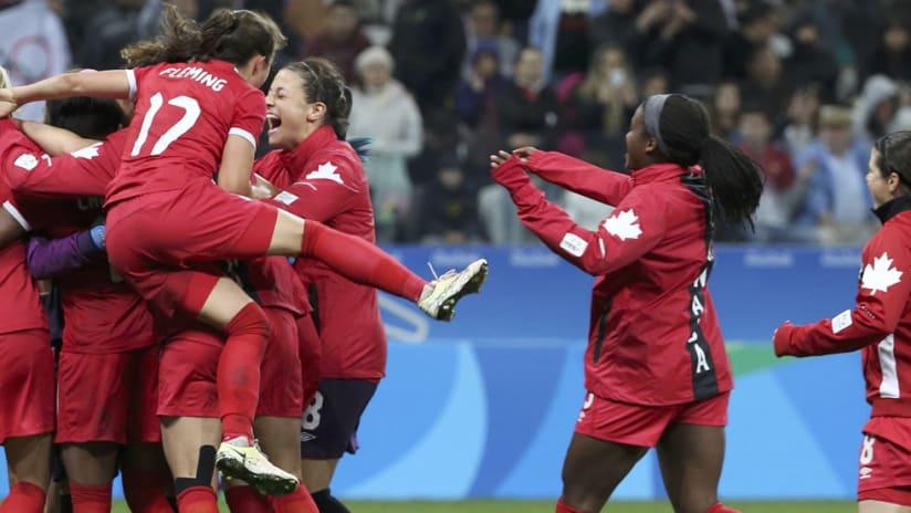 Canada - CanWNT - 2016 Olympics - celebration