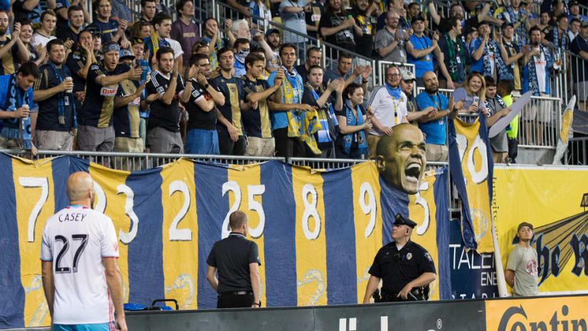 Conor Casey - Columbus Crew SC - Ejected at former home Philadelphia