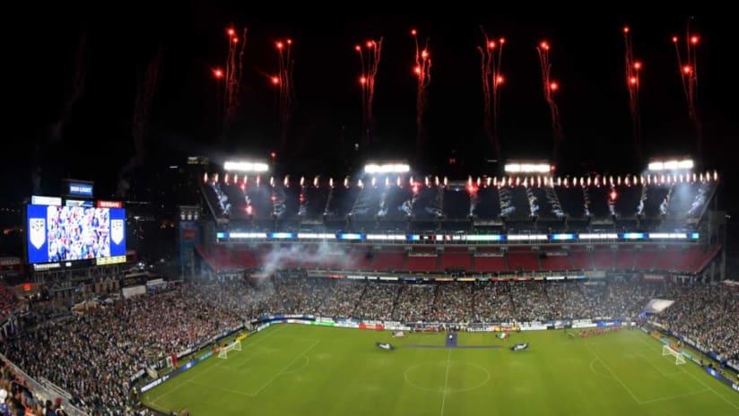 Nissan Stadium - fireworks - Nashville