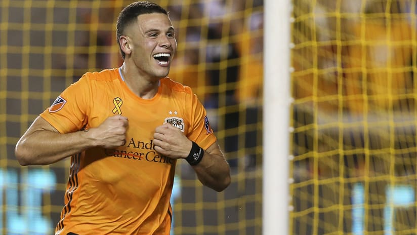 Christian Ramirez - Houston Dynamo - goal celebration