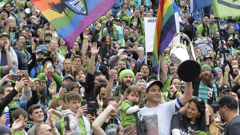 Lodeiro, Sounders celebrate MLS Cup