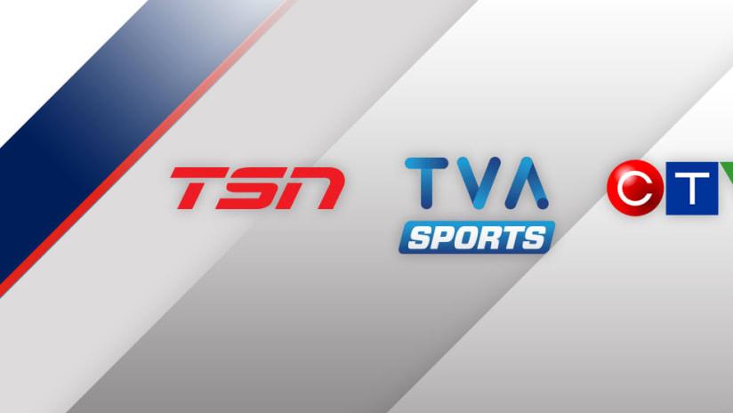 Canada TV lockup - TSN - TVA Sports - CTV