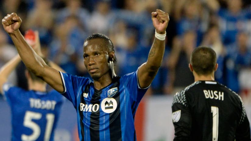 Didier Drogba - Montreal Impact - May 28, 2016 - arms in air