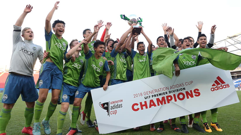 Seattle Sounders - 2018 Premier Division Generation adidas Cup champs