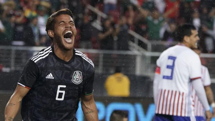 Jonathan dos Santos goal celebration vs. Paraguay