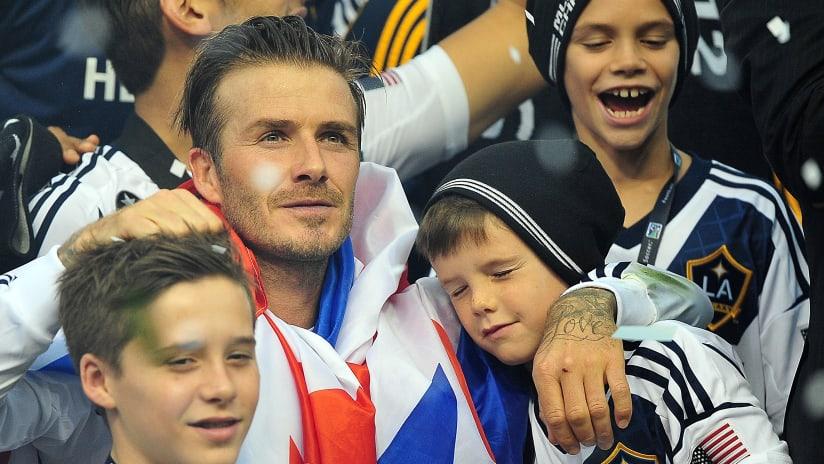 David Beckham - Galaxy 2012 MLS Cup Celebration