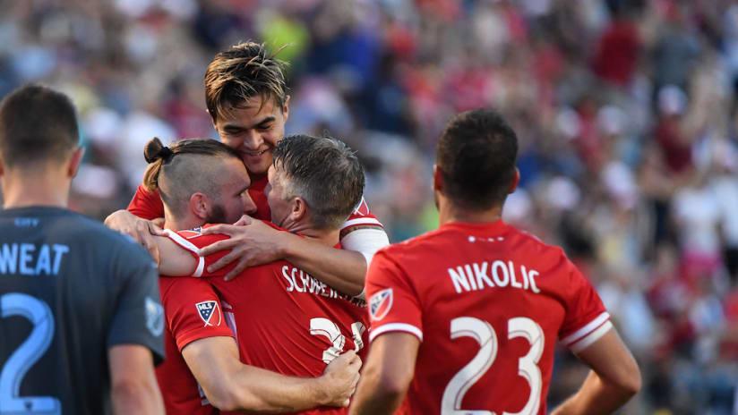 Aleksandar Katai goal celebration vs. NYCFC-6.30.18