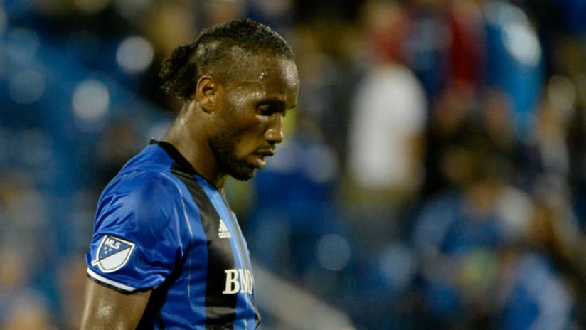 Didier Drogba - Montreal Impact - looks dejected in loss to New England Revolution