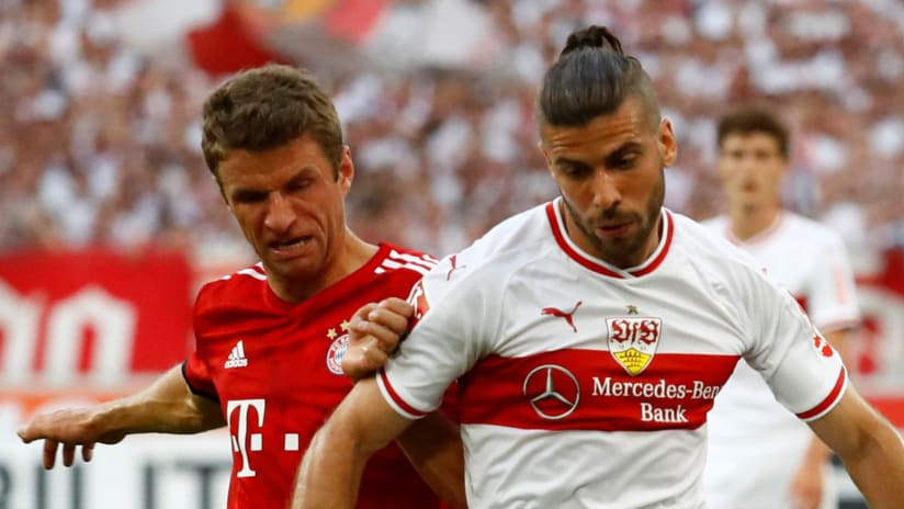 Thomas Muller - Emiliano Insua - Bayern Munich - Stuttgart