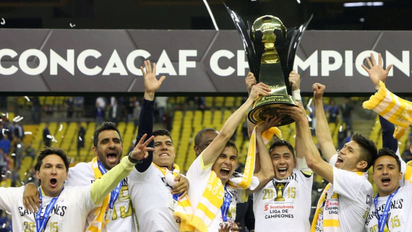 Club America - CONCACAF Champions League - trophy - celebration
