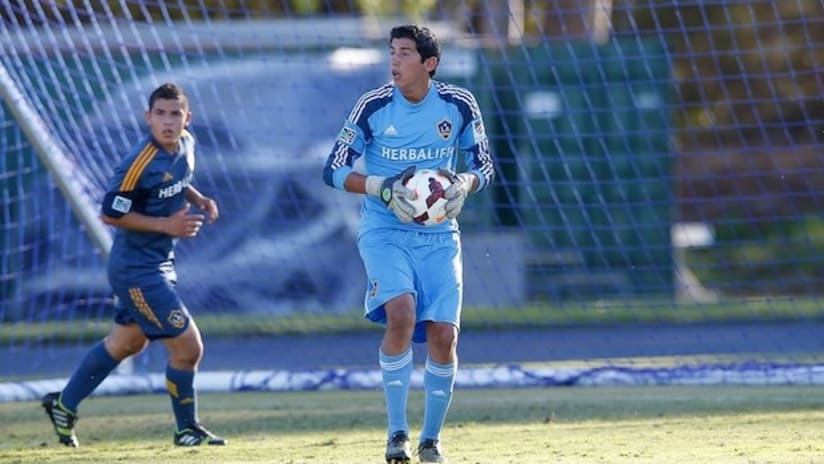 LA Galaxy II goalkeeper Eric Lopez