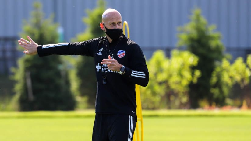 Jaap Stam's first day at FC Cincinnati training