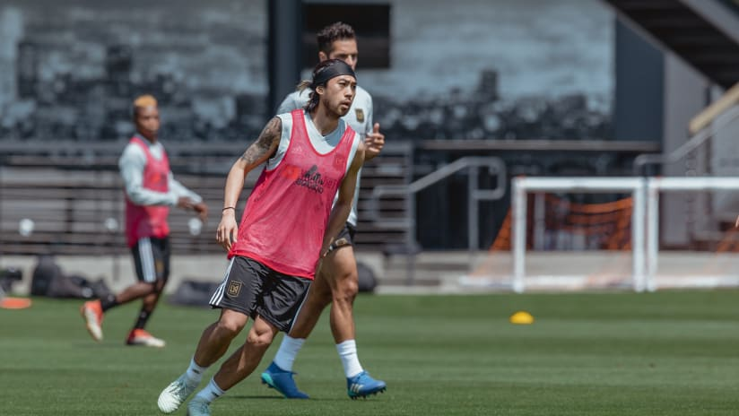 Lee Nguyen - LAFC - at first training session with new club