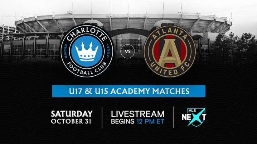 Charlotte FC vs Atlanta United academy - October 31, 2020