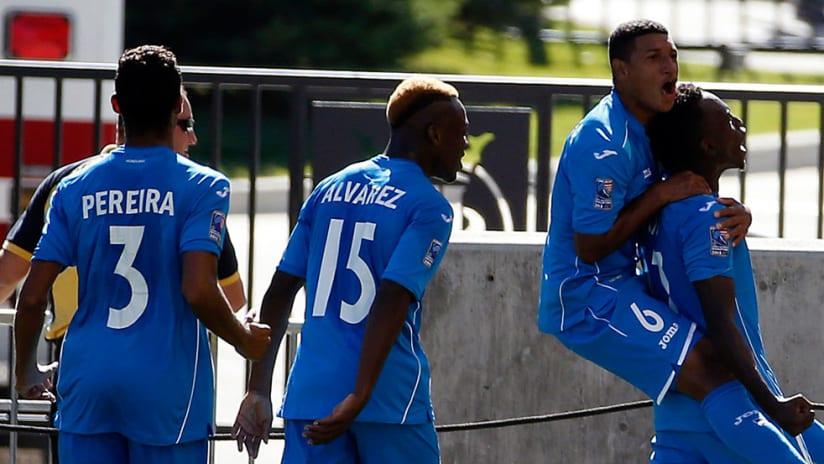 Alberth Elis - Honduras U-23 - Celebrates goal vs. US