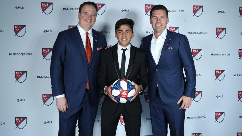 Better photo: Jeff Berding - Frankie Amaya - Alan Koch - FC Cincinnati - 2019 MLS SuperDraft