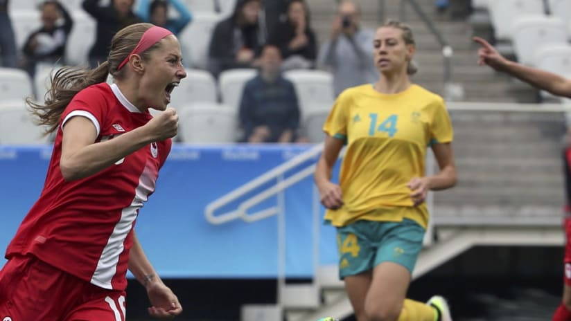 Janine Beckie - Canada women's national team - 2016 Olympics - celebration