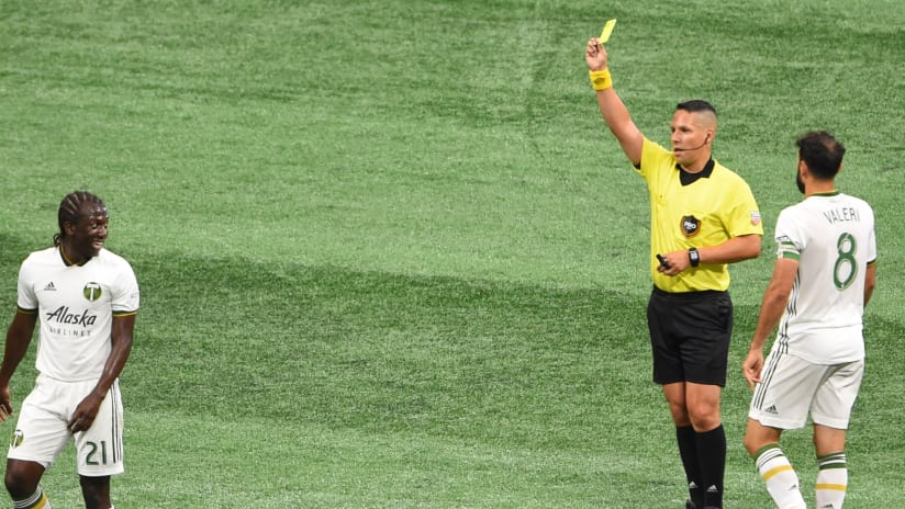 Diego Chara Diego Valeri - Portland Timbers - Yellow card