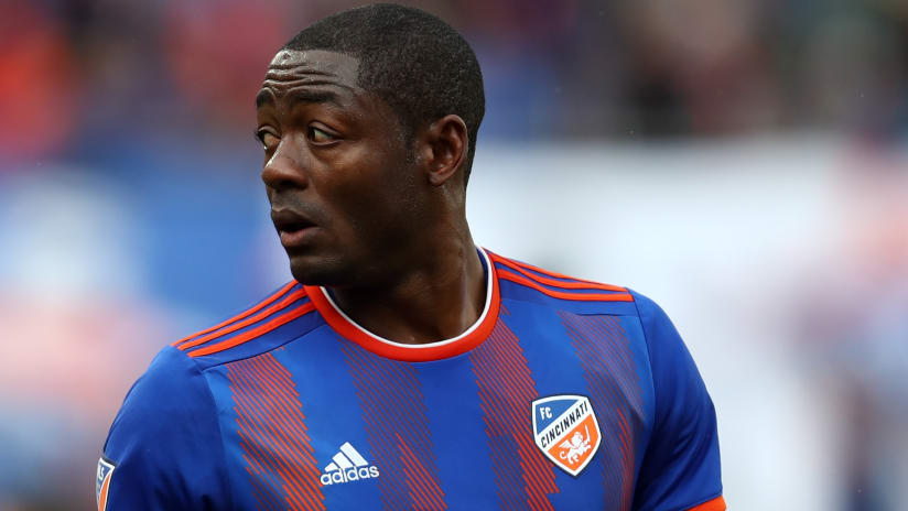 Fanendo Adi stares to the distance - FC Cincinnati