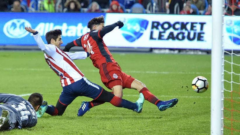 Jonathan Osorio - Toronto FC - scoring in CCL final Leg 1 vs. Chivas