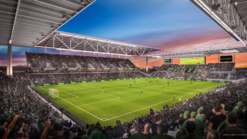 Austin stadium rendering - 2019