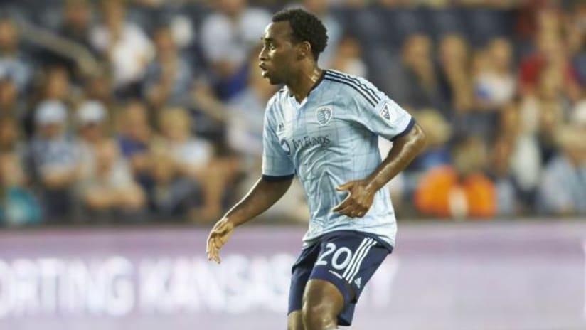 Amobi Okugo in action for Sporting Kansas City