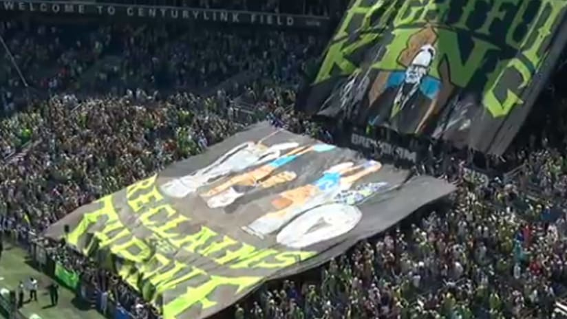 TIFO - Seattle Sounders - Brian Schmetzer