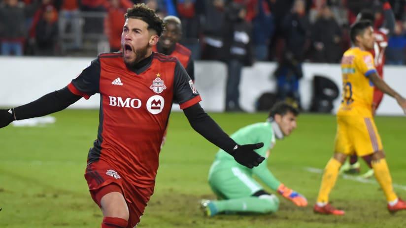 Jonathan Osorio celebrating — Toronto FC — March 7, 2018