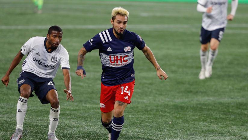 Diego Fagundez on ball - New England Revolution